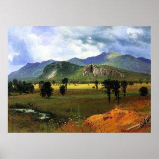 Montaña de la fosa, New Hampshire Bierstadt Póster