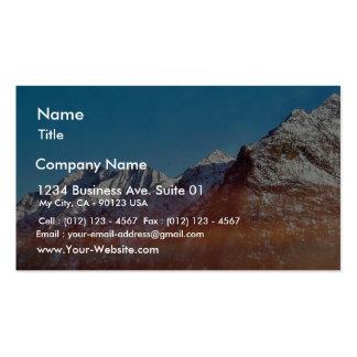Montaña de la montaña plantillas de tarjeta de negocio