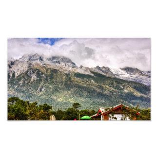 Montaña de la nieve del dragón del jade arte fotográfico