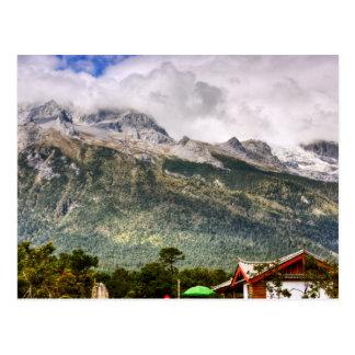 Montaña de la nieve del dragón del jade postal