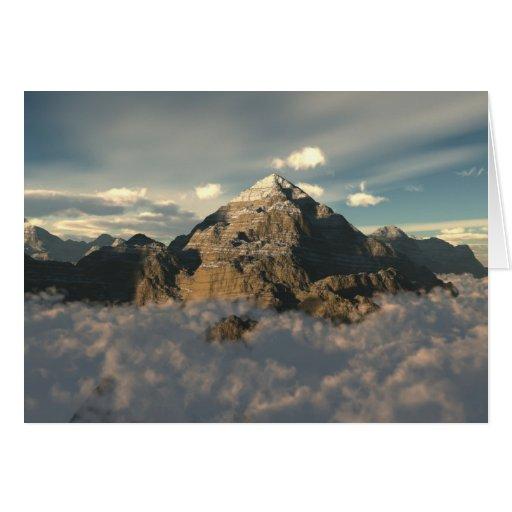 Montaña de la nube tarjetas