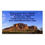Montaña de la superstición plantilla de tarjeta de negocio