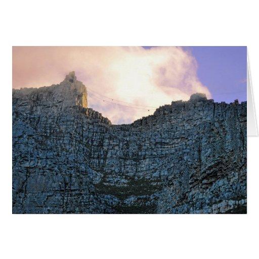 Montaña de la tabla de Cape Town Felicitacion