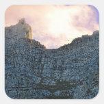 Montaña de la tabla de Cape Town Calcomanías Cuadradas Personalizadas