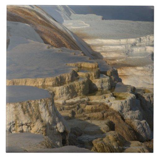 Montaña de la terraza en Mammoth Hot Springs Azulejo