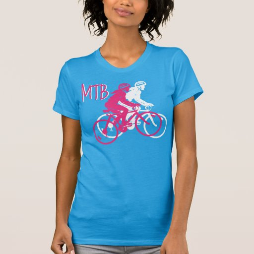 Montaña de las señoras Biking el deisgn de MTB en Camisas