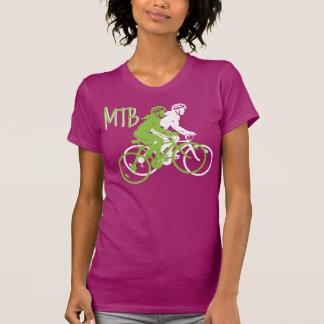 Montaña de las señoras Biking el deisgn de MTB en  Camiseta