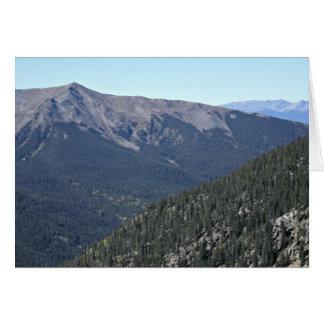 Montaña de Lenawee; Arapahoe Bason Tarjeta De Felicitación