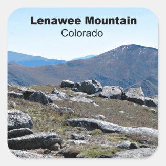Montaña de Lenawee, Colorado Pegatina Cuadrada