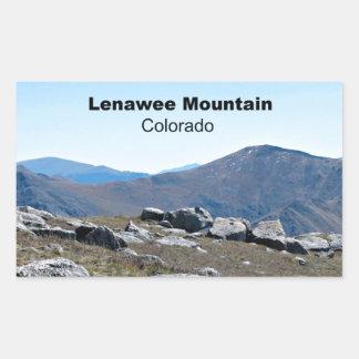 Montaña de Lenawee, Colorado Pegatina Rectangular