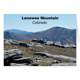 Montaña de Lenawee, Colorado Tarjeta De Felicitación