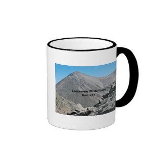 Montaña de Lenawee, Georgetown, CO Taza De Dos Colores