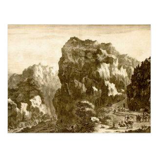 Montaña de los diez mandamientos tarjeta postal