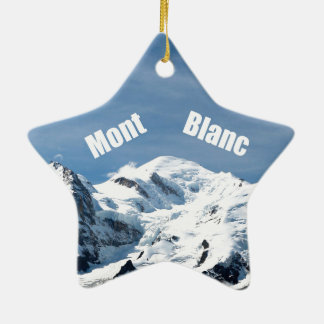 ¡Montaña de Mont Blanc - magnífica! Adorno Navideño De Cerámica En Forma De Estrella