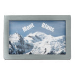 ¡Montaña de Mont Blanc - magnífica! Hebilla Cinturon Rectangular