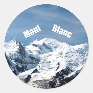 ¡Montaña de Mont Blanc - magnífica! Pegatina Redonda