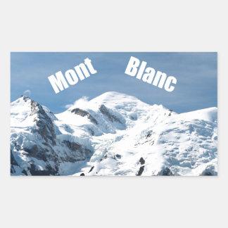 ¡Montaña de Mont Blanc - magnífica! Pegatina Rectangular