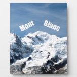 ¡Montaña de Mont Blanc - magnífica! Placas Con Fotos