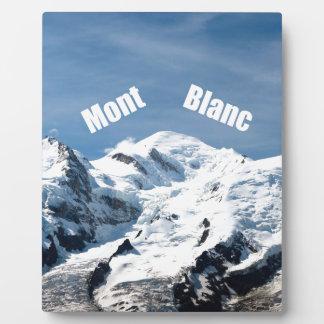 ¡Montaña de Mont Blanc - magnífica Placas Con Fotos
