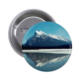 Montaña de Rundle, Banff Pin Redondo De 2 Pulgadas