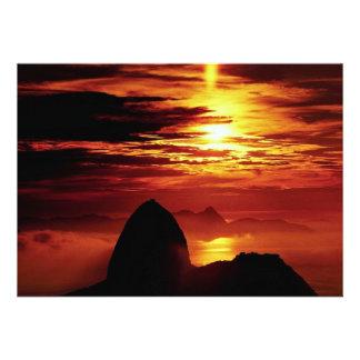 Montaña de Sugarloaf Río de Janeiro el Brasil Comunicados Personales