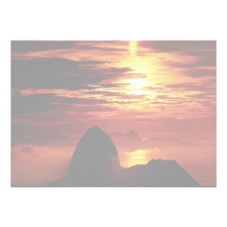Montaña de Sugarloaf Río de Janeiro el Brasil Invitaciones Personalizada