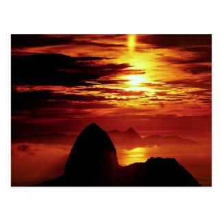 Montaña de Sugarloaf, Río de Janeiro, el Brasil Tarjetas Postales