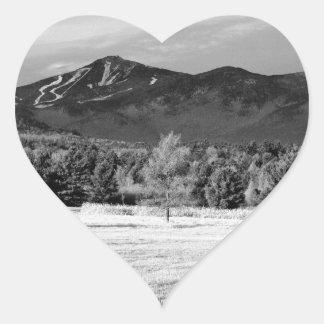 Montaña de Whiteface Pegatina En Forma De Corazón