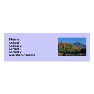Montaña de Whiteface sobre poca charca de Cherrypa Plantilla De Tarjeta De Negocio