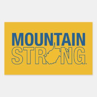 Montaña de WVU fuerte Pegatina Rectangular