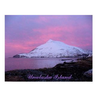 Montaña del Ballyhoo, puesta del sol rosada del Tarjetas Postales