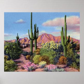 Montaña del Camelback de Phoenix Arizona Póster