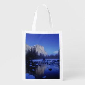 Montaña del EL Capitan, parque nacional de Yosemit Bolsa Reutilizable