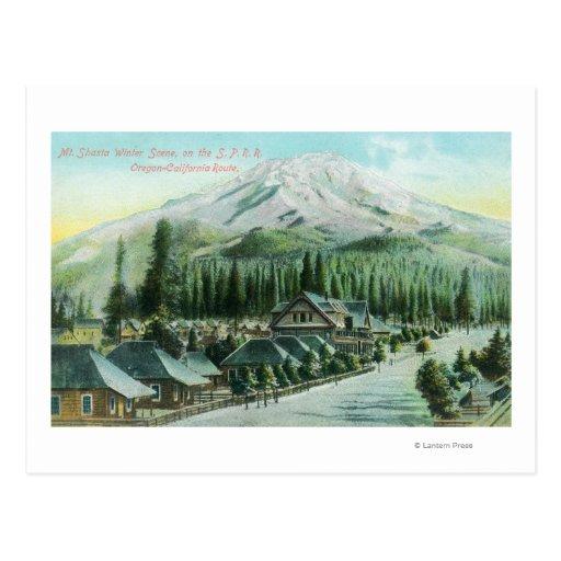Montaña del ferrocarril pacífico meridional postales