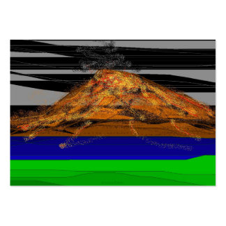 Montaña del fuego tarjetas de visita grandes