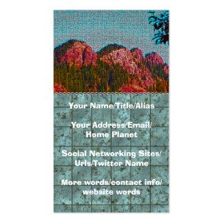 Montaña del mosaico tarjetas de visita