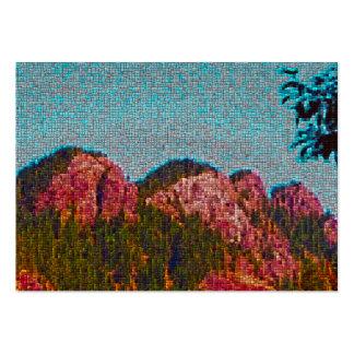 Montaña del mosaico tarjetas de visita grandes