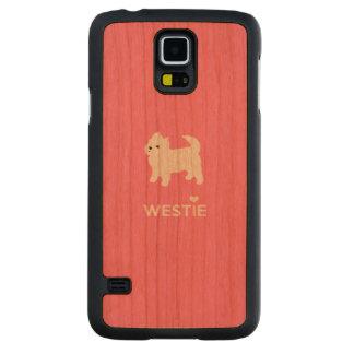 Montaña del oeste linda Terrier - amor Westies de Funda De Galaxy S5 Slim Cerezo