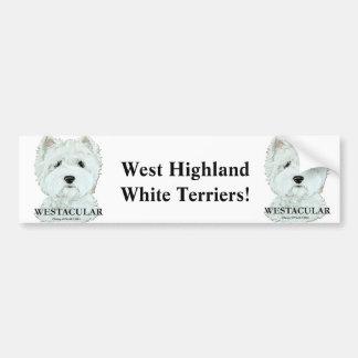 Montaña del oeste Terrier blanco de Westacular Pegatina Para Auto