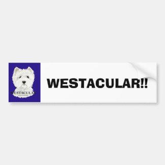 ¡Montaña del oeste Terrier blanco de Westacular! Pegatina Para Auto