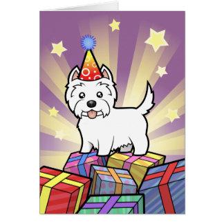 Montaña del oeste Terrier blanco del cumpleaños Tarjeta