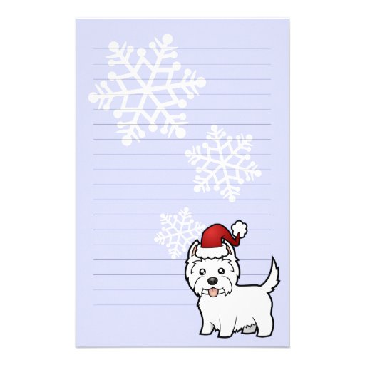 Montaña del oeste Terrier blanco del navidad Papeleria