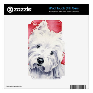 Montaña del oeste Terrier Calcomanía Para iPod Touch 4G