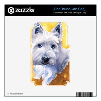 Montaña del oeste Terrier Calcomanías Para iPod Touch 4G