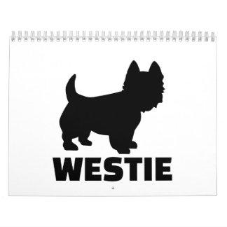 Montaña del oeste Terrier de Westie Calendario