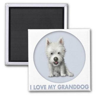 Montaña del oeste Terrier Granddog Imán Cuadrado