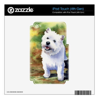 Montaña del oeste Terrier iPod Touch 4G Skin