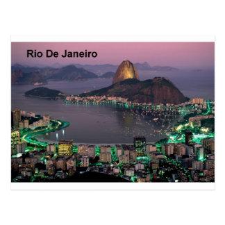 Montaña del pan de azúcar del Brasil Río de Tarjeta Postal