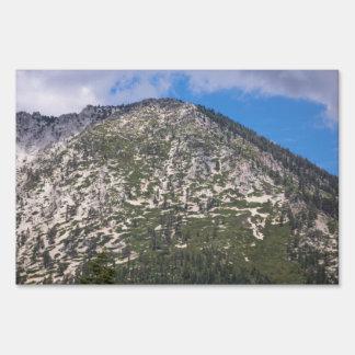 Montaña del sur de la cascada del lago Tahoe Carteles