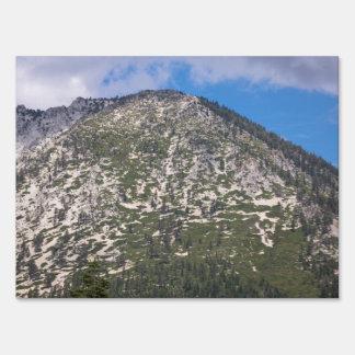 Montaña del sur de la cascada del lago Tahoe Letreros